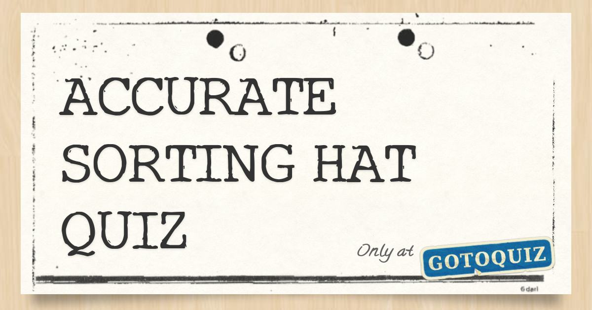 image regarding Printable Sorting Hat Quiz named Suitable SORTING HAT QUIZ
