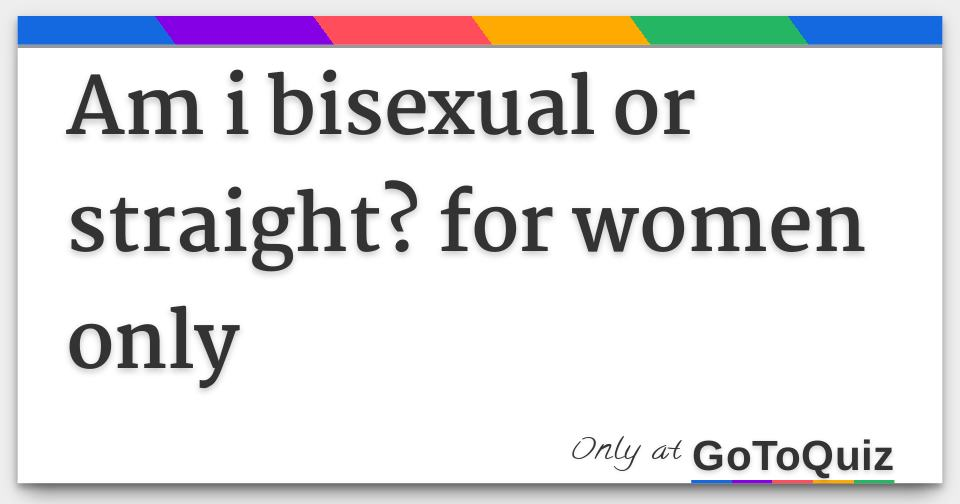 Are you bisexual quiz
