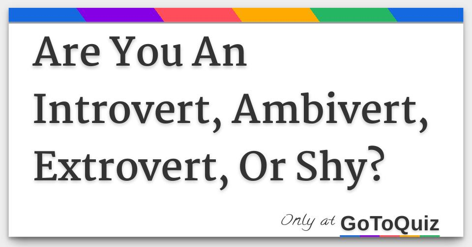 difference between shy and introvert