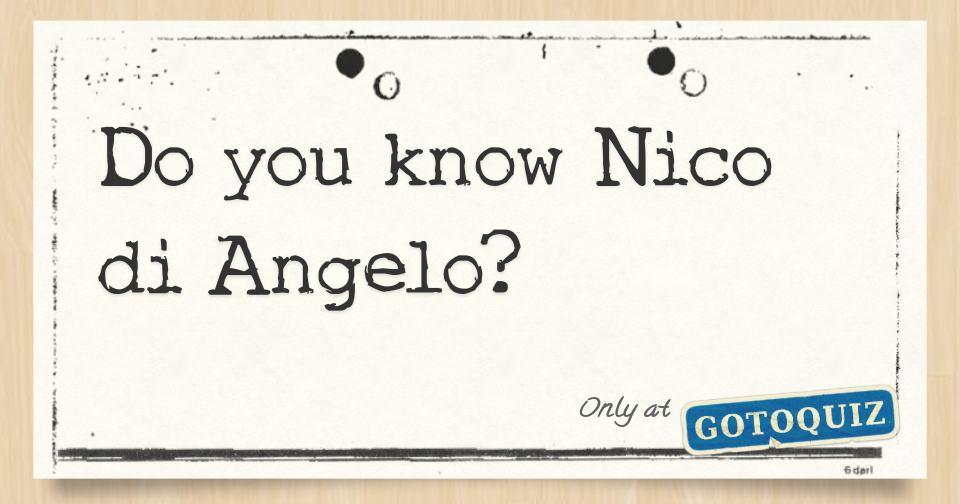 Do You Know Nico Di Angelo Riordanverse Quiz