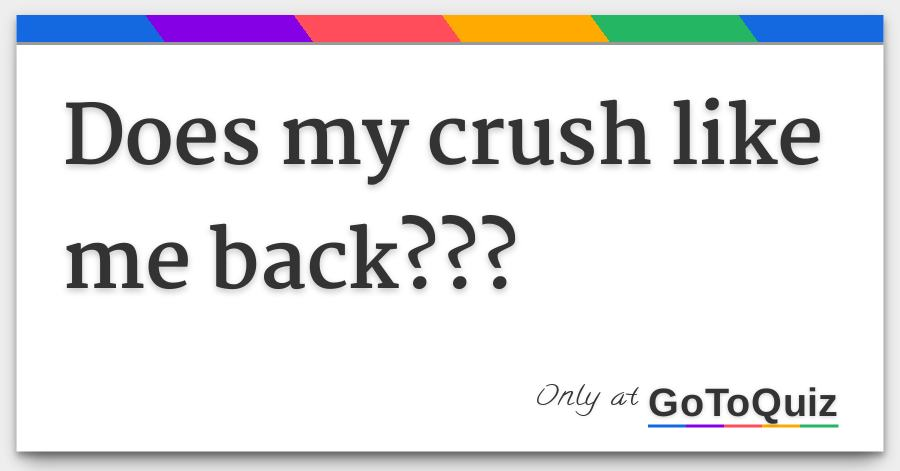 Quiz to see if my crush likes me