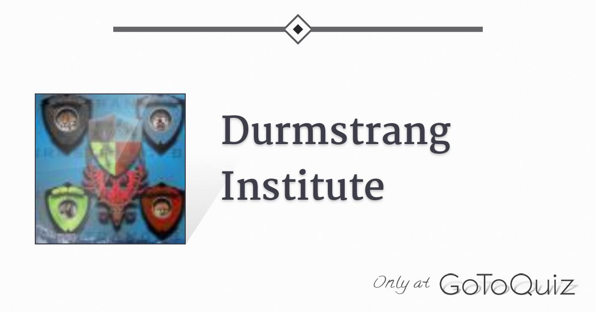 Durmstrang Institute Дурмстранг) was one of the three largest wizarding schools in europe (the other two being hogwarts and beauxbatons). durmstrang institute