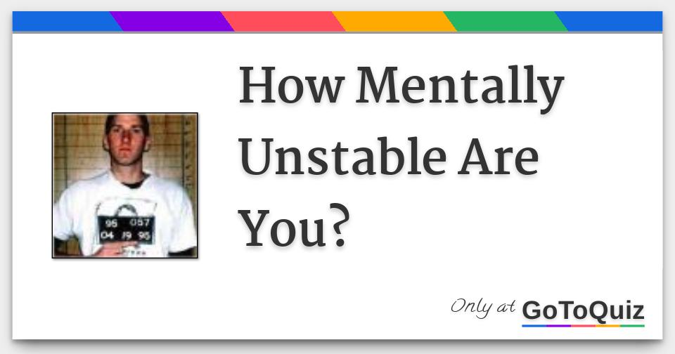 Am i emotionally unstable quiz