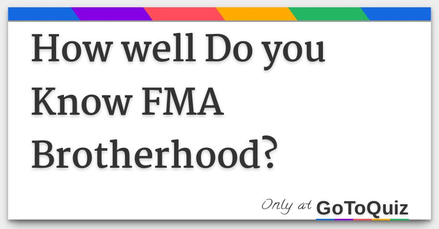 fullmetal alchemist brotherhood quiz