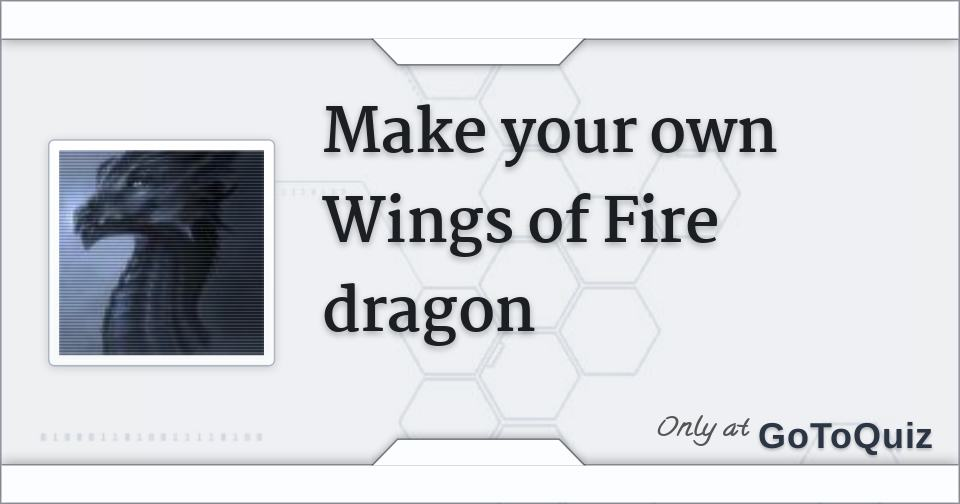 Make Your Own Wings Of Fire Dragon