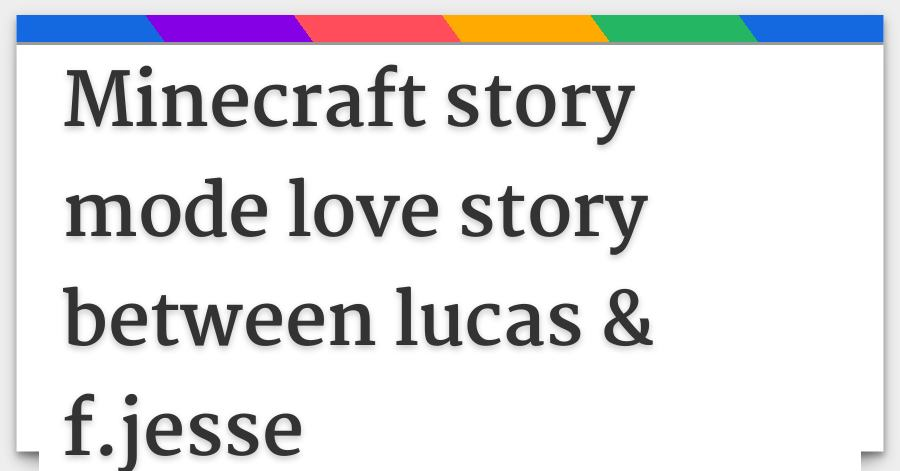 minecraft story mode jesse and lukas kiss