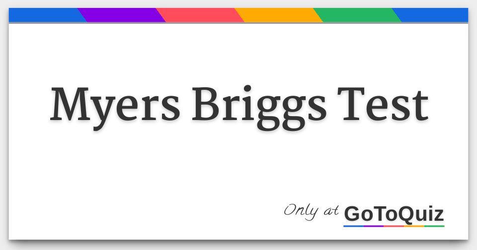 myers briggs test