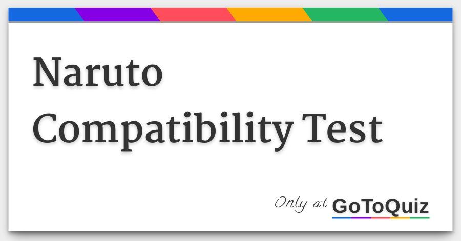 Naruto Compatibility Test