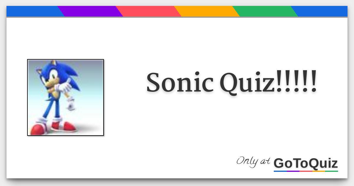 Sonic Quiz