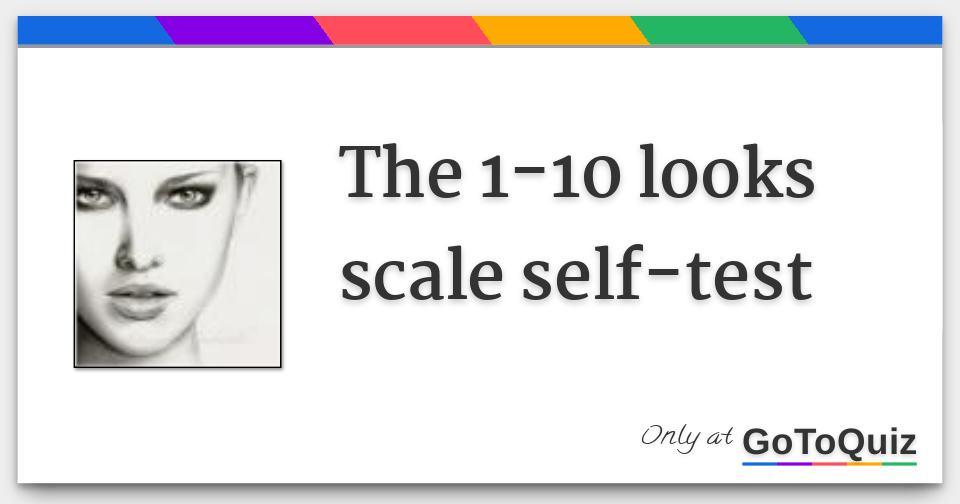 Attractiveness scale 1 10