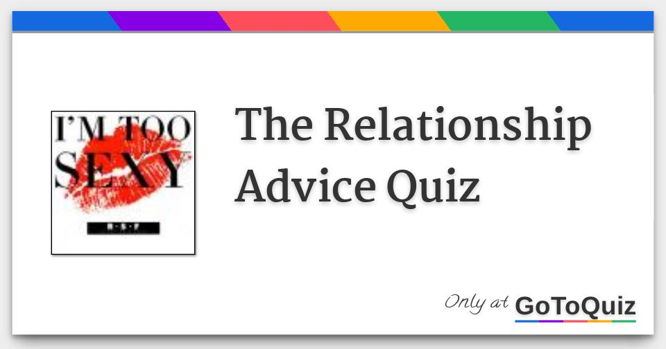 Relationship advice quiz
