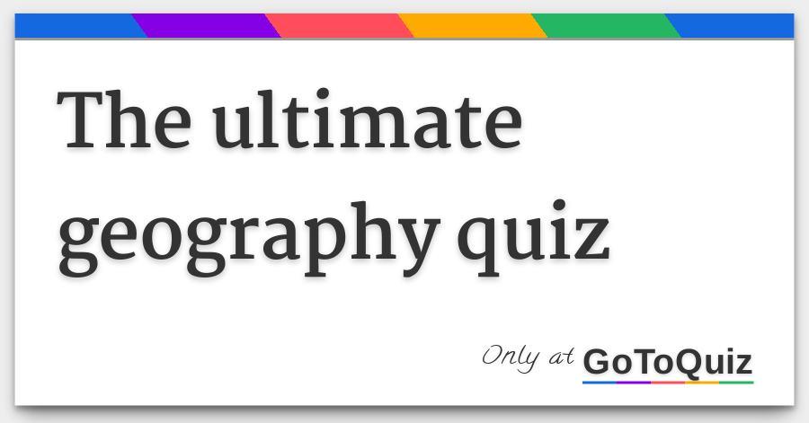 geo quiz ответы на русском