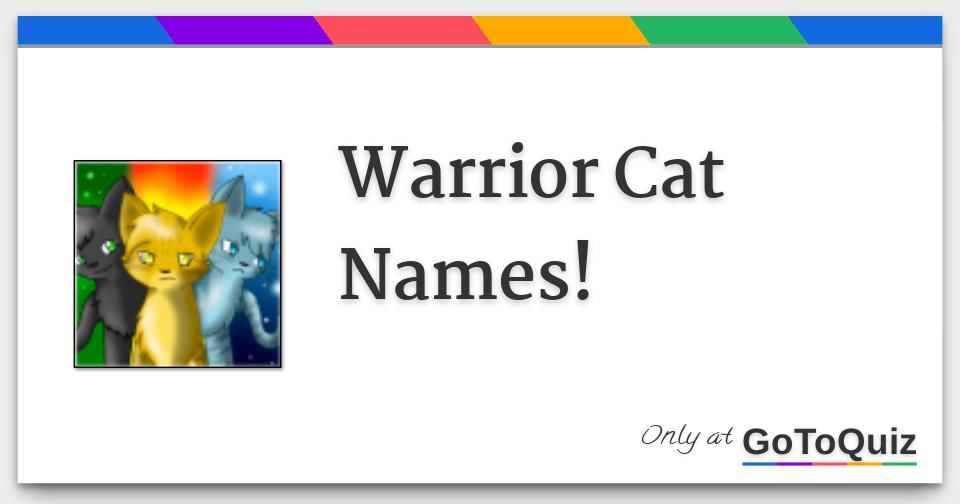 Warrior Cat Names