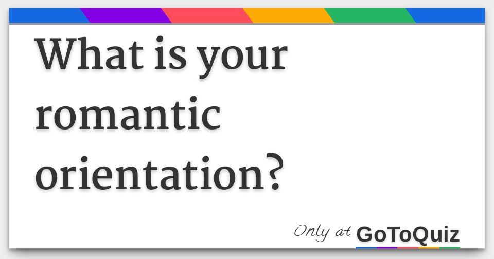 Romantic orientation quiz