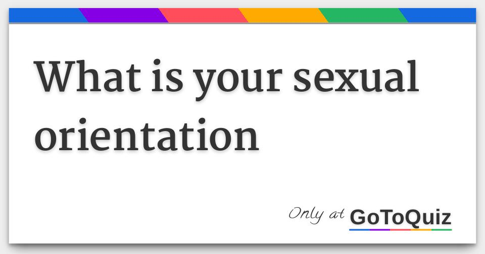 Sexual orientation quizzes for girls