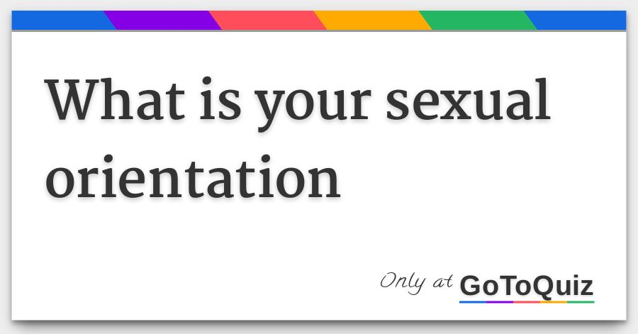 Ultimate sexual orientation quiz