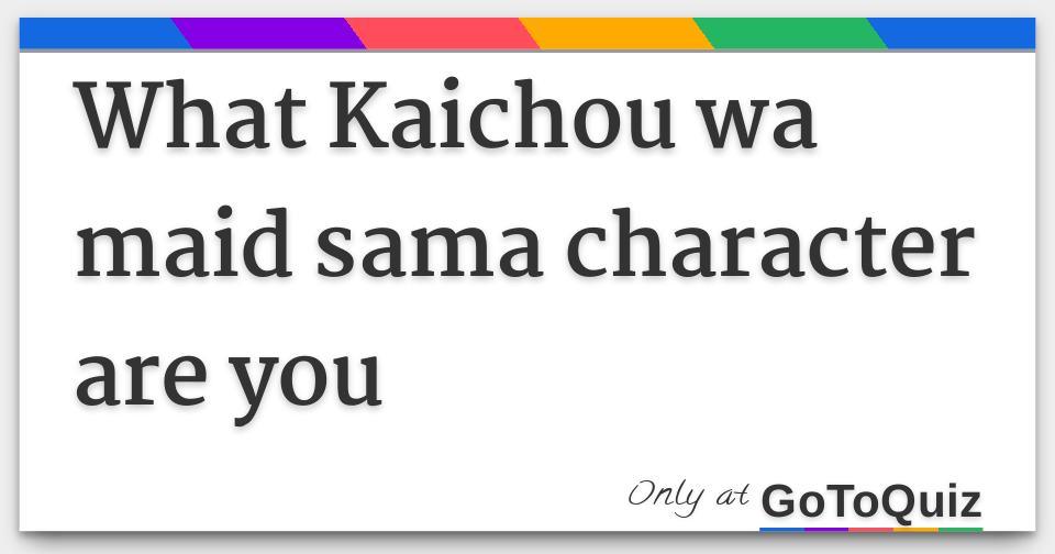 kaichou wa maid sama characters