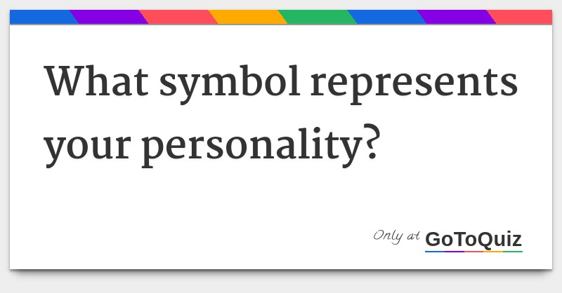 What Symbol Represents Your Personality