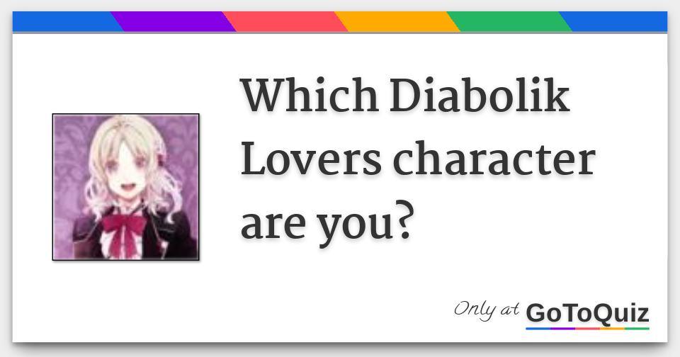 My vampire boyfriend diabolik lovers | Witch vampire are you