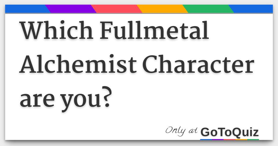 Fullmetal Alchemist dating quiz online dating Schweiz