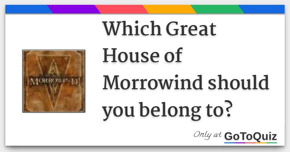Eso morrowind houses