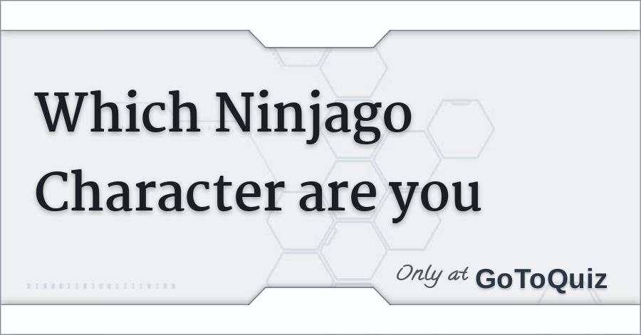 Which lego ninjago character are you quiz