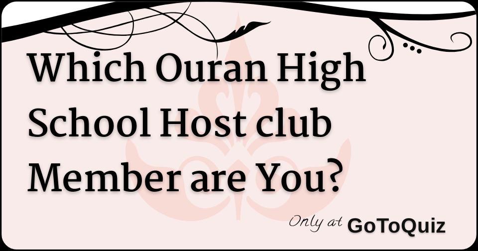 ouran high school host club quiz