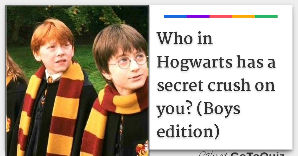 Who in Hogwarts has a secret crush on you? (Boys edition)