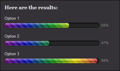 Rainbow progress bars